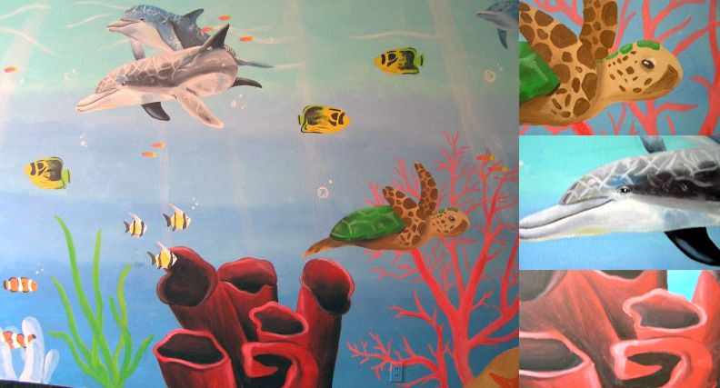 Coral reef mural by crucifiedcondios on deviantart for Coral reef mural
