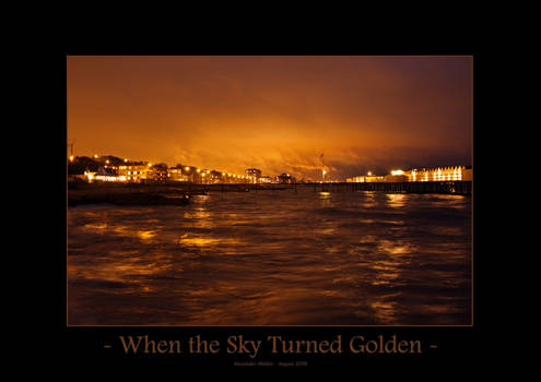 When the Sky Turned Golden