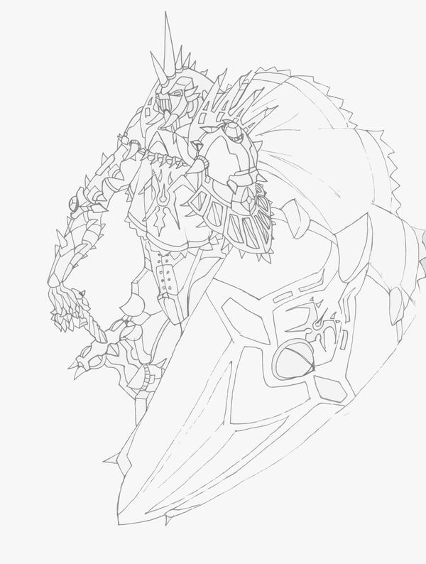 Line Drawing Knight : Evil knight line art by sathiest emperor on deviantart