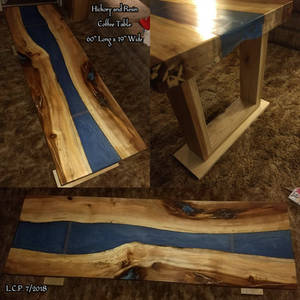 Hickory and Resin River Coffee Table