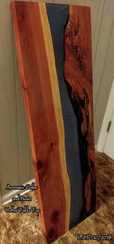 Aromatic Cedar and Resin River Coffee Table Top