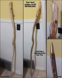Pear Wood Walking Staff