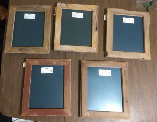 Set of 5 Barnwood Photo Frames