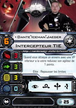 X-wing miniature custom card