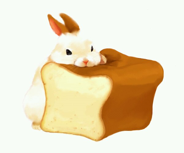 Bunny on Bread by SupNoobs