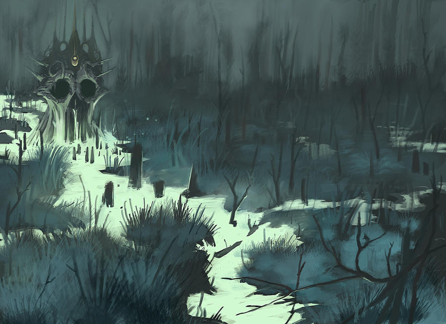 Cursed Marsh by ScathSiorai