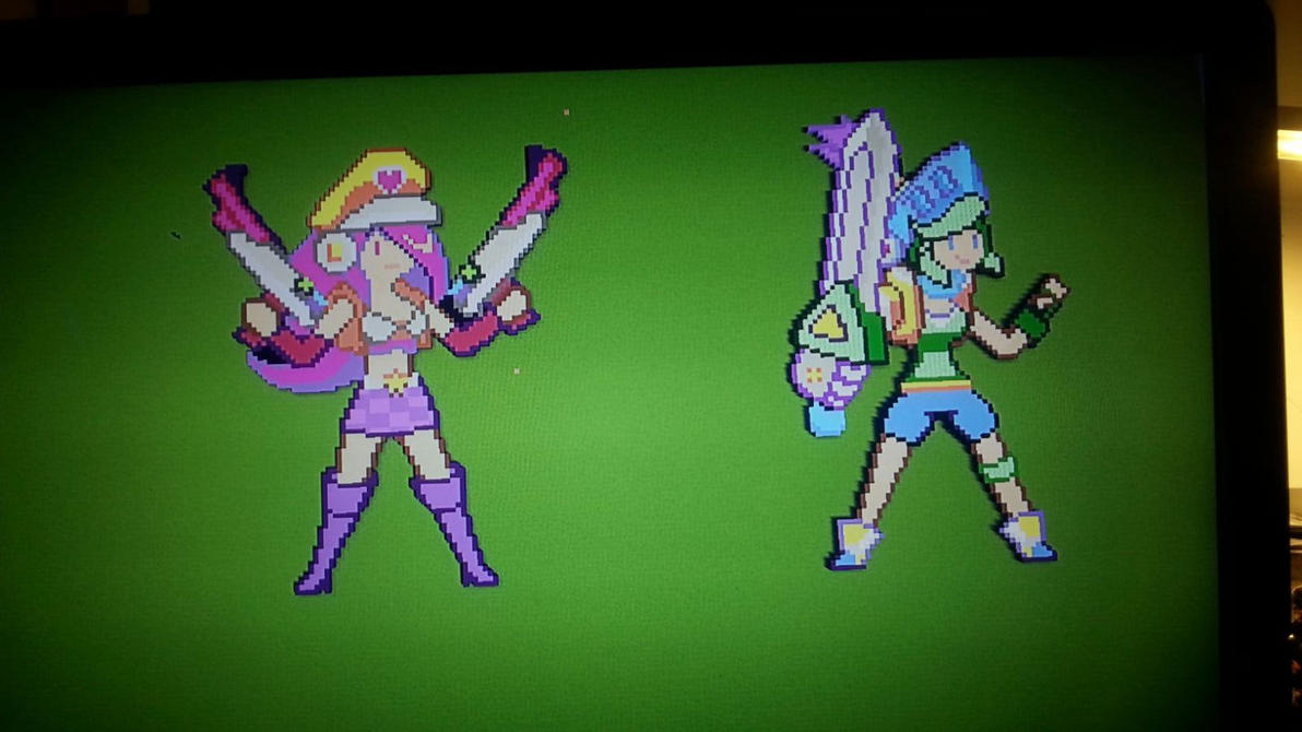 Minecraft Pixel Art - Arcade Miss Fortune + Riven by V4L0R7