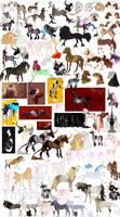 2018 sketchdump - horses by Vivaliis