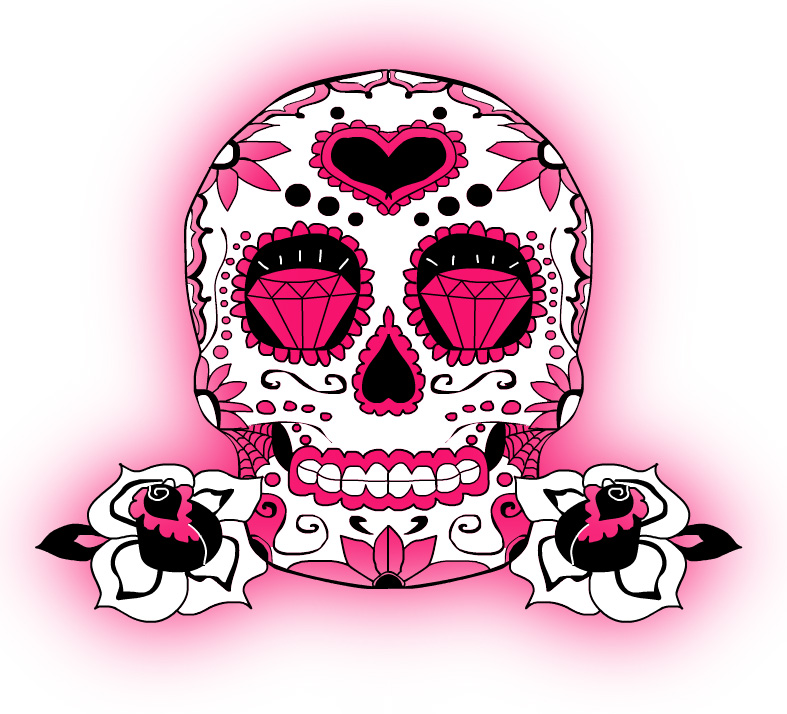 Pretty in pink by switchblade77 on deviantart for Pretty skull tattoos