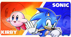 Sonic Y Kirby en Super Smash Bros