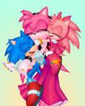 amy abrazando a sus hijos