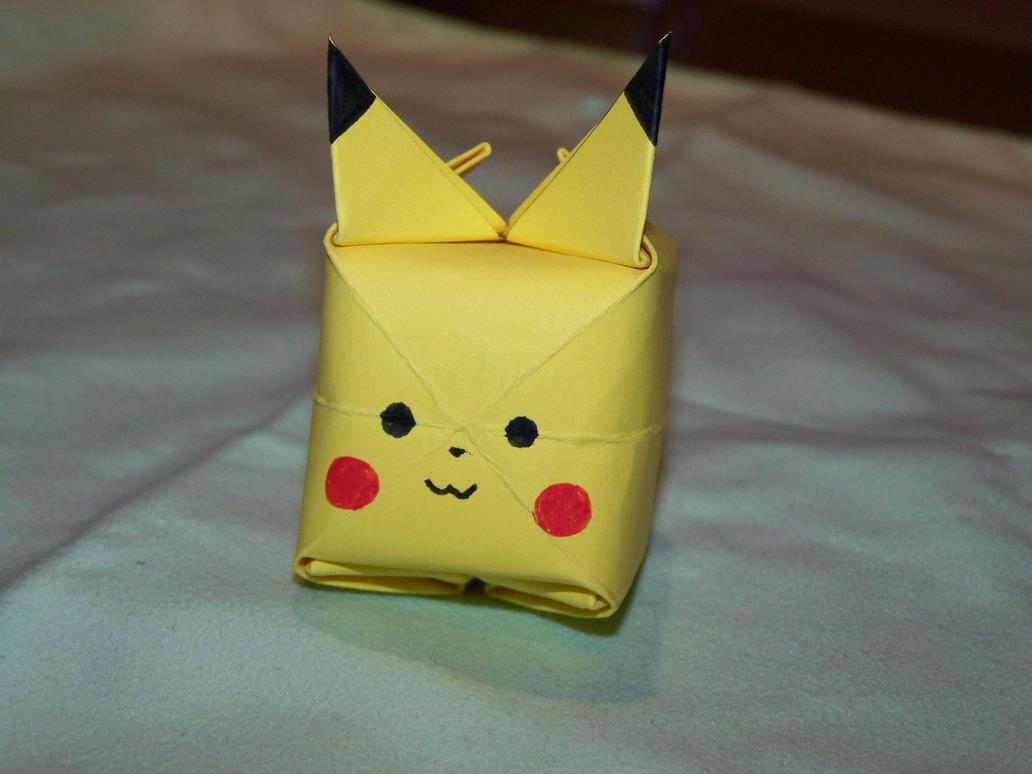 How To Make Origami Pikachu Box