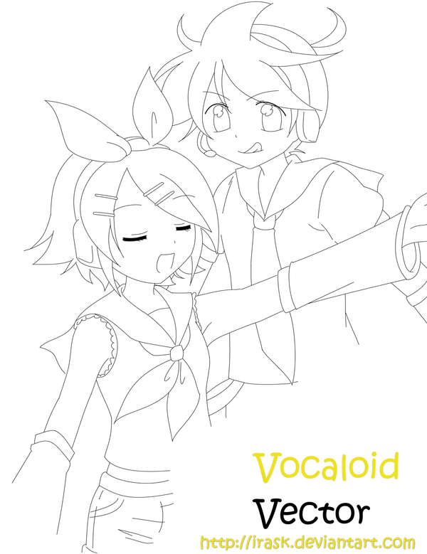 Vocaloid Group Coloring Pages Vocaloid vector by irask