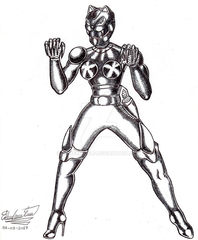 Ultra Power Ranger Tigress by Edwerewolf