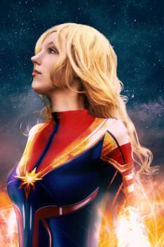 Aquajasakura as Captain Marvel