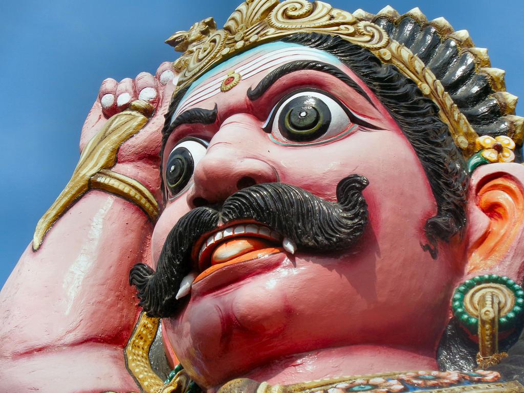 Guardian at Sri Villayauthamudaiya  Ayyanar temple by katymousso