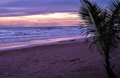 purple sunset on Koh Chang