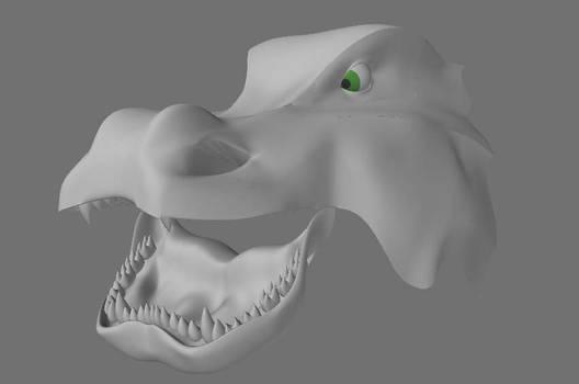 Dragon head - open jaw