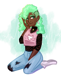 Thalia in Punk Pastel clothing~ by liliatura