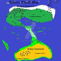 Kingdom of Athia - Post Prince of Athia Map