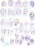 faces and expression studies