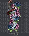Rose Dagger tattoo 2