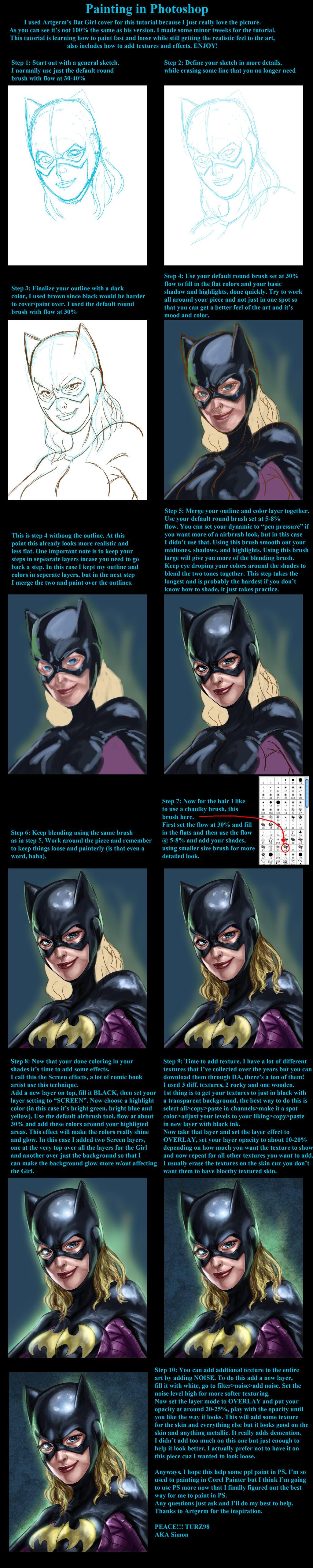 Bat Girl PS Detailed Tutorial