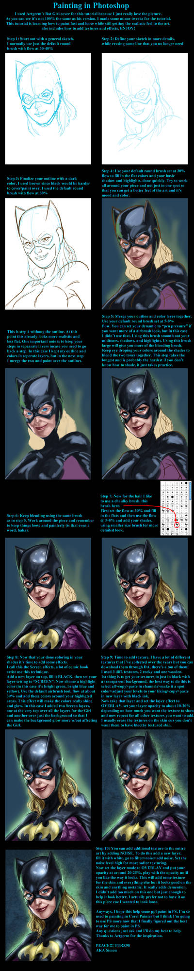 Bat Girl PS Detailed Tutorial