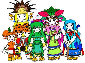 Princesse Azta et sa famille by mytherbale