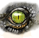 Crocodile eye by Mahasim