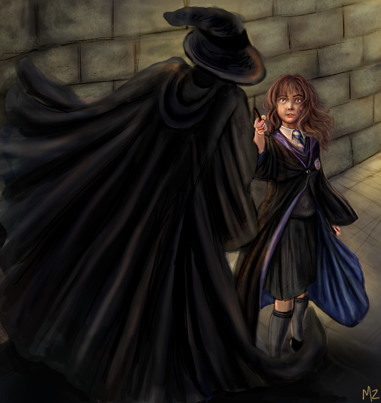 Hermione vs HatnCloak by Mahasim