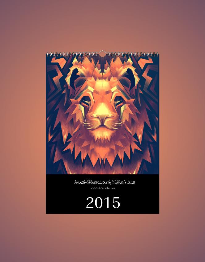 Animal Illustrations Calendar 2015