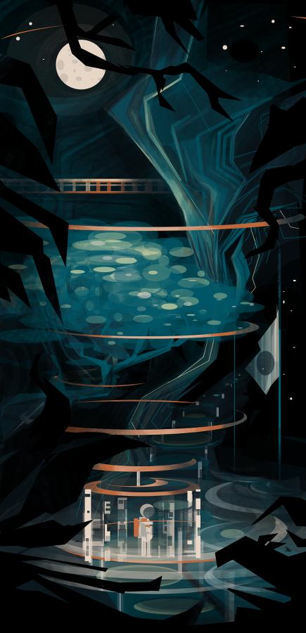 Tesla's Secret Moonbase by faith303