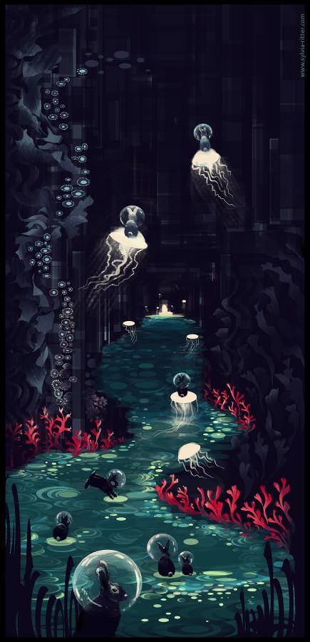 Bubble Bunny Underworld by SylviaRitter