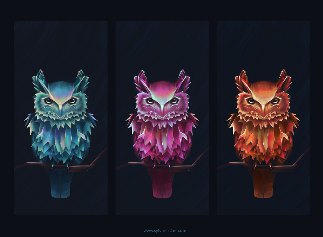 Colorful Owl of Minerva by faith303
