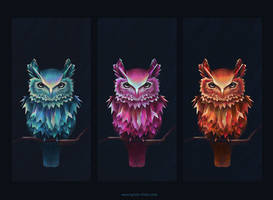 Colorful Owl of Minerva by SylviaRitter