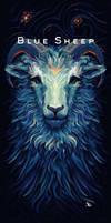 Blue Sheep - T-Shirt Design for MrSuicideSheep
