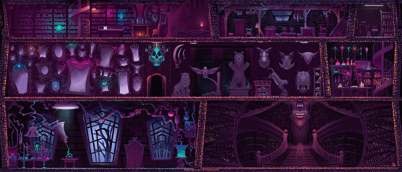 Evil Library Concept Art by SylviaRitter
