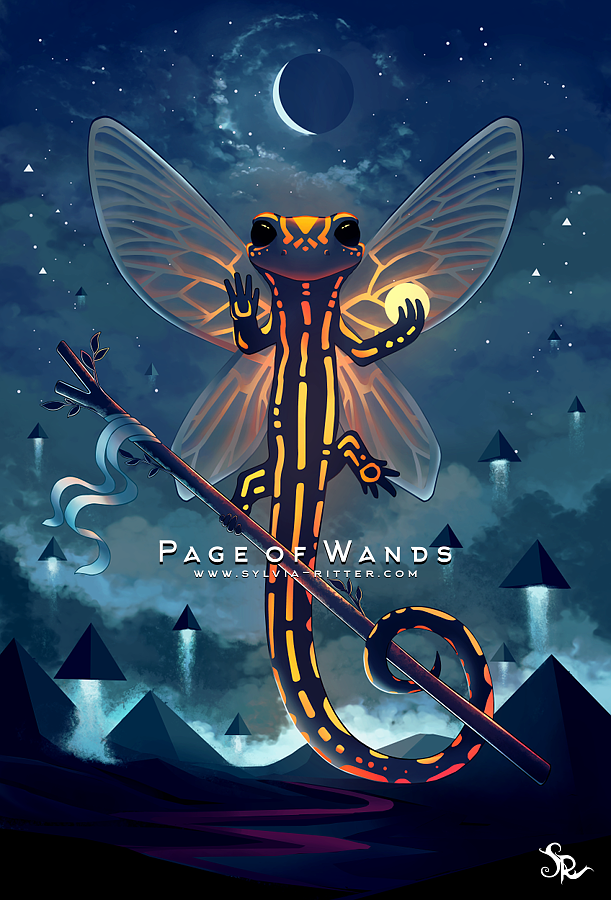 Page of Wands by SylviaRitter