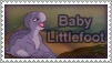Baby Littlefoot Stamp by Nyxity