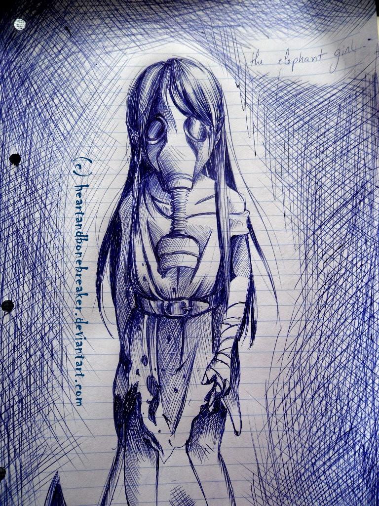 The Elephant Girl by heartandbonebreaker