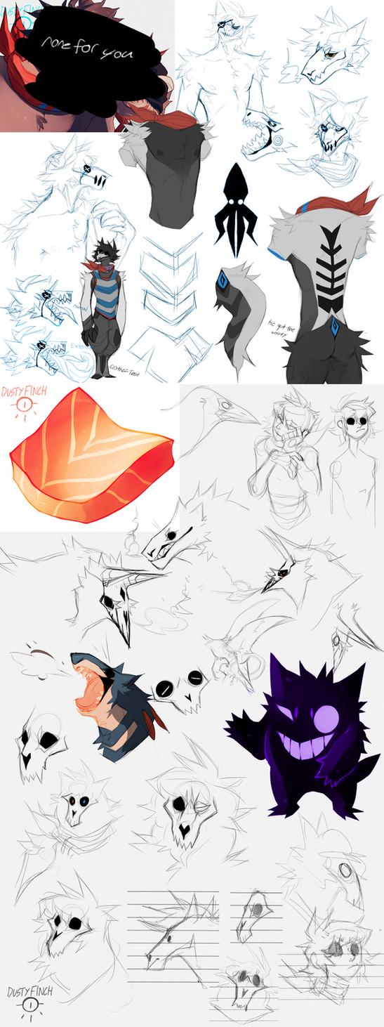 (small) Sketch dump no.10 by Dusty-Demon