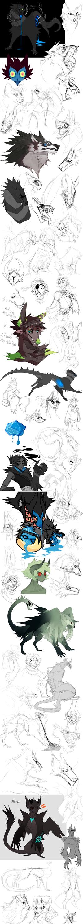 Sketch Dump no.17 by Dusty-Demon