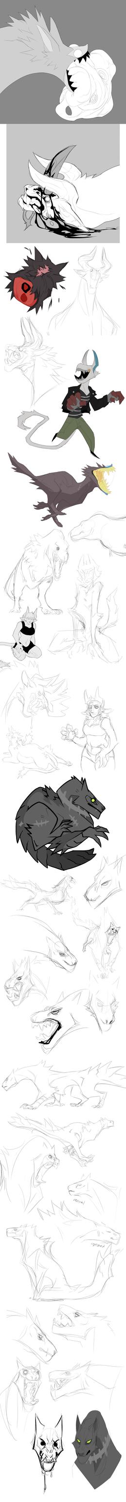 Sketch Dump no.25 by Dusty-Demon