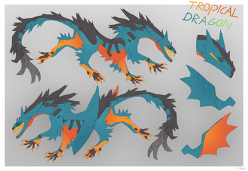 Tropical Dragon Adopt (CLOSED) by Dusty-Demon