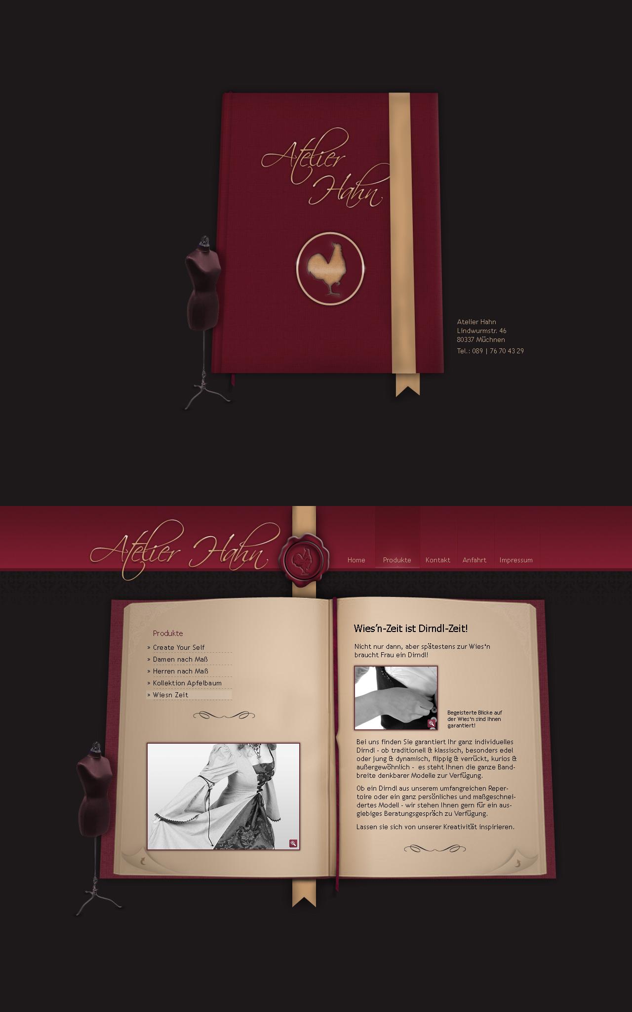 Tailorstudio - Website by medienvirus