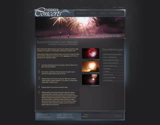 Concert and Promo Website by medienvirus