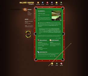 Billiardscenter Website by medienvirus