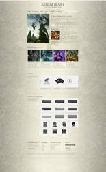 Kerem Beyit - Portfolio Weblayout