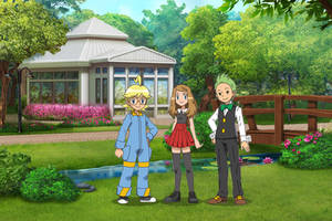 Clemont, Serena and Cilan